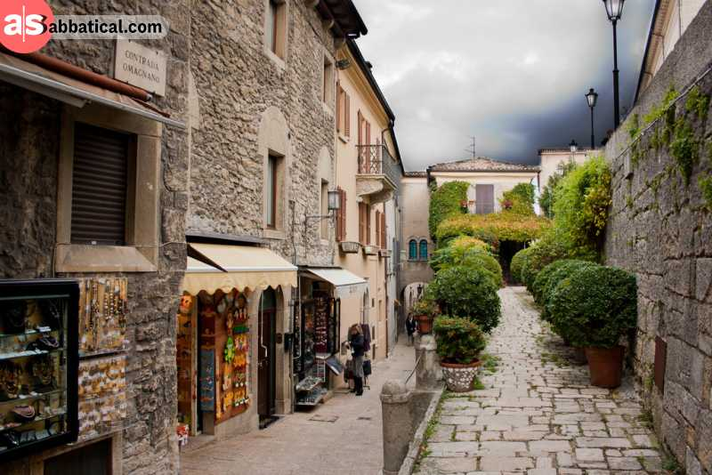The streets of San Marino are meant to be explored on foot.