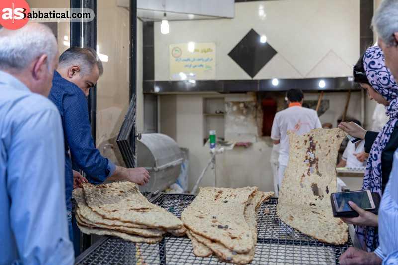 Sangak is stone-baked bread.