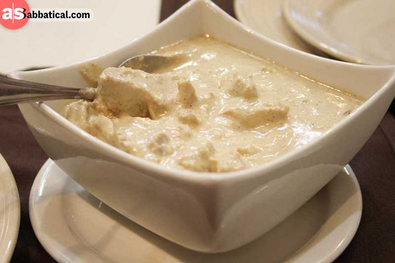 Satsivi is meat (usually chicken) in walnut sauce.