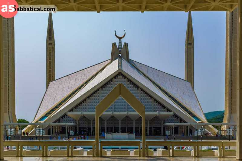 The majestic Shah Faisal Mosque in Islamabad.