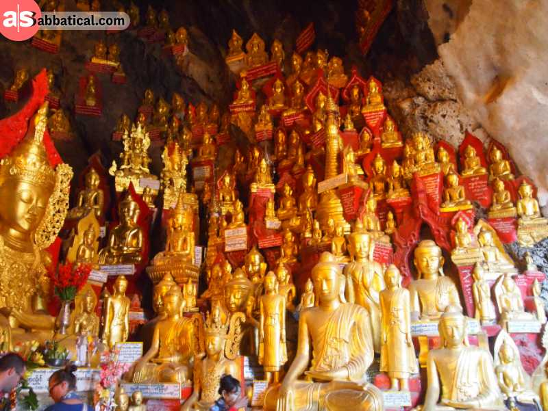 Shwe Oo Min Pagoda hides a cave that is adorned with numerous images of Buddha.