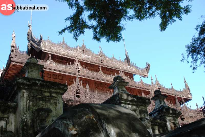 If you're in Mandalay, make sure to visit the Shwenandaw Monastery!