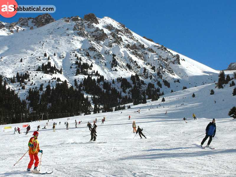 Shymbulak Ski Resort is just a 15 minute ride away from Almaty and is worth visiting during the winter months.