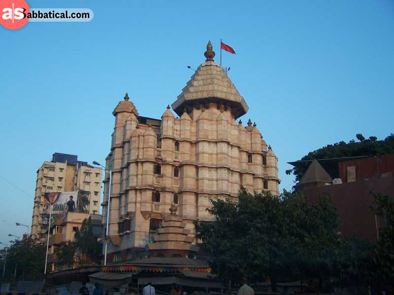 The majestic Siddhivinayak Temple is the most popular Hindu temple in Mumbai.