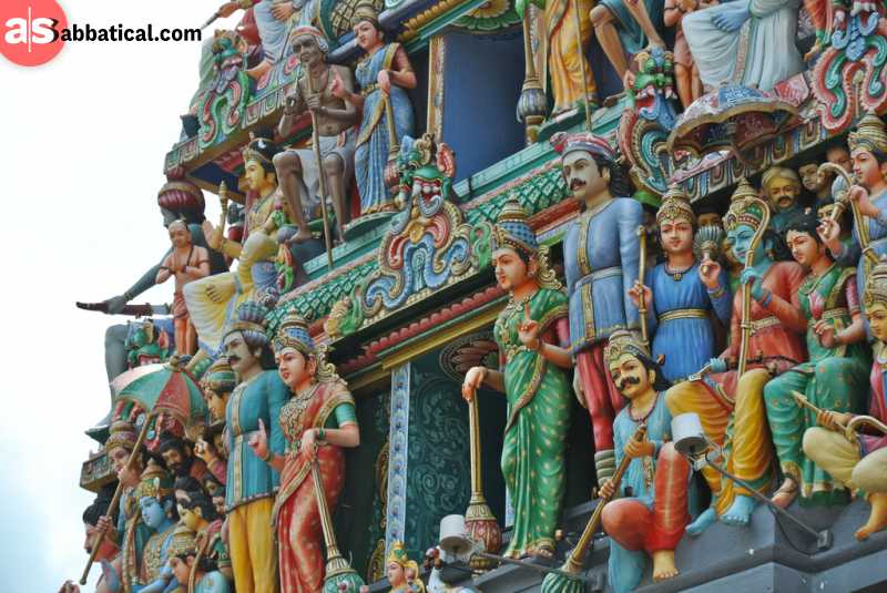 Hindu religion is just one of the many religions practiced in Singapore.