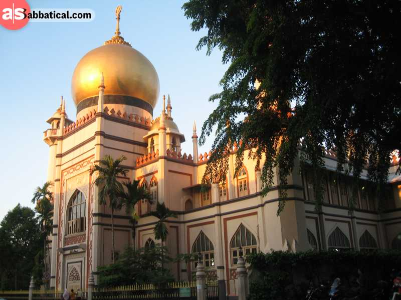 Masjid Sultan is the most iconic mosque in Singapore due to its unique blend of different architectural styles.
