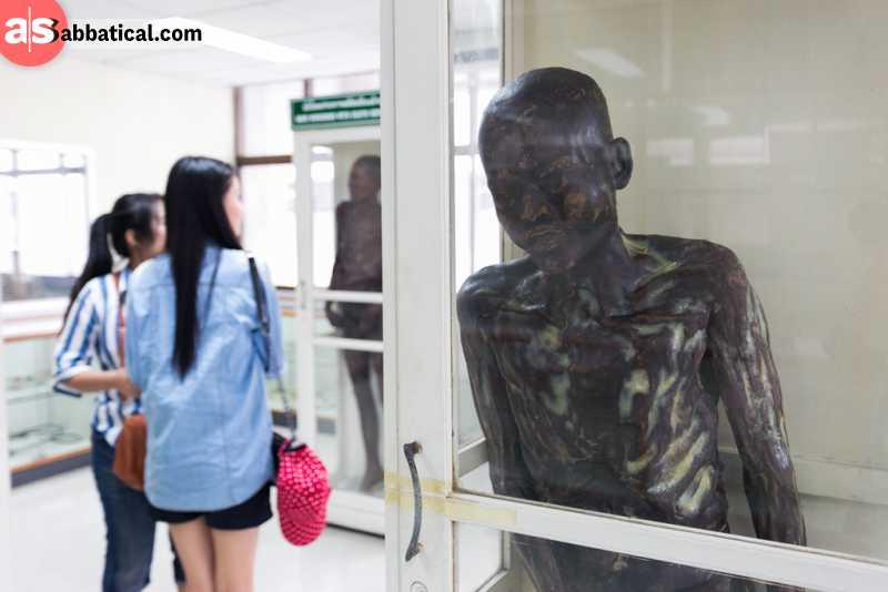 Siriraj Medical Museum is definitely the most unusual museum in Thailand