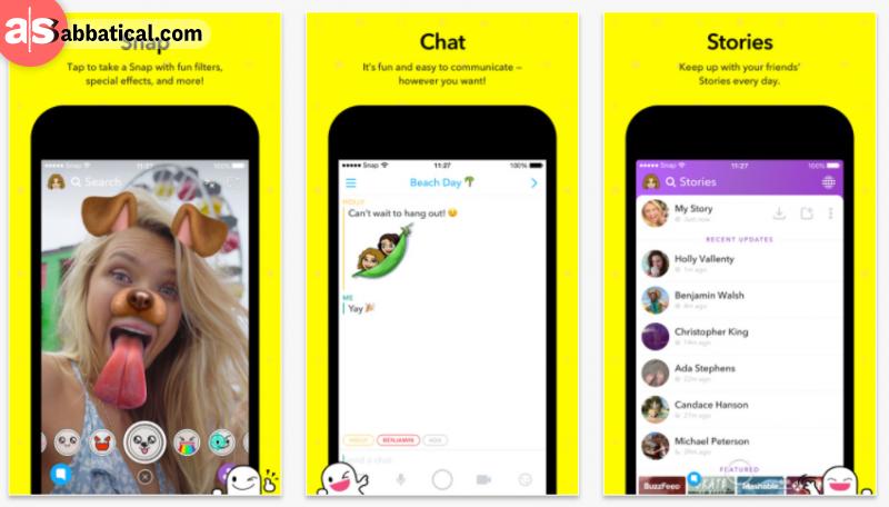 screenshots of snapchat on ios