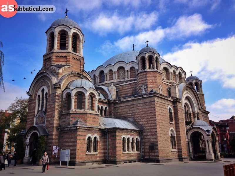The magnificent Sveti Sedmochislenitsi Church in Sofia.