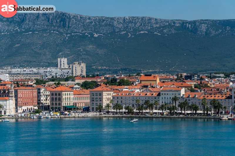 A stunning and historic coastal boardwalk in Split