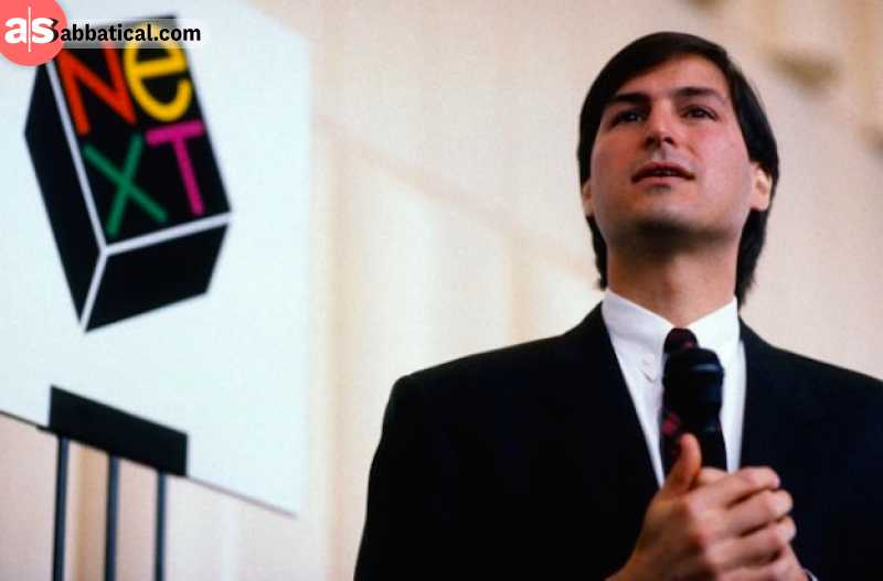 After leaving Apple, Steve Jobs founded his new company, Next, that he sold to Apple in 1996. Image courtesy of Awkward Media.