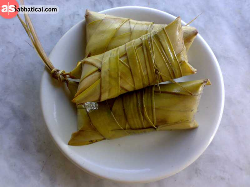 Suman is Filipino food that is usually eaten as a snack.