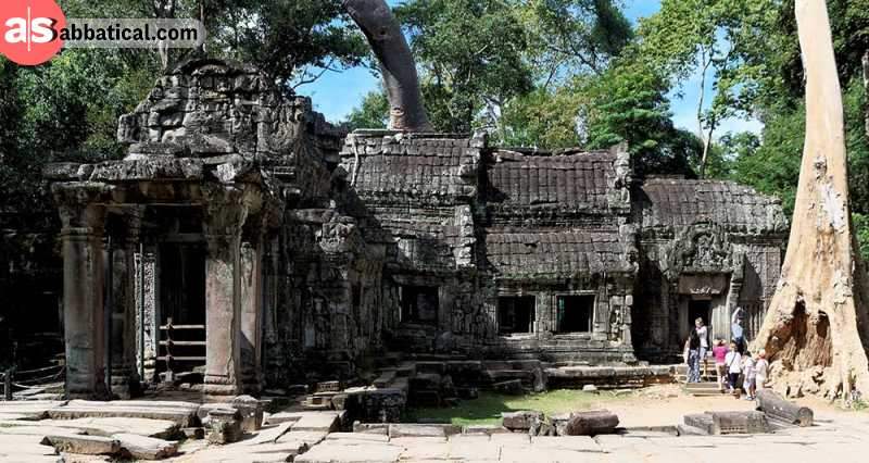 Ta Prohm Temple is an unique mix of nature and architecture that you shouldn't miss!
