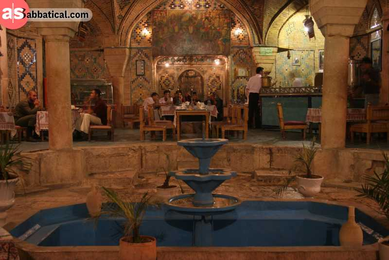 A traditional tea house in Iran.