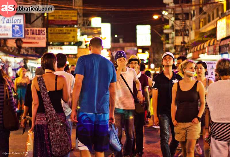 Thailand is famous for its vibrant nightlife.