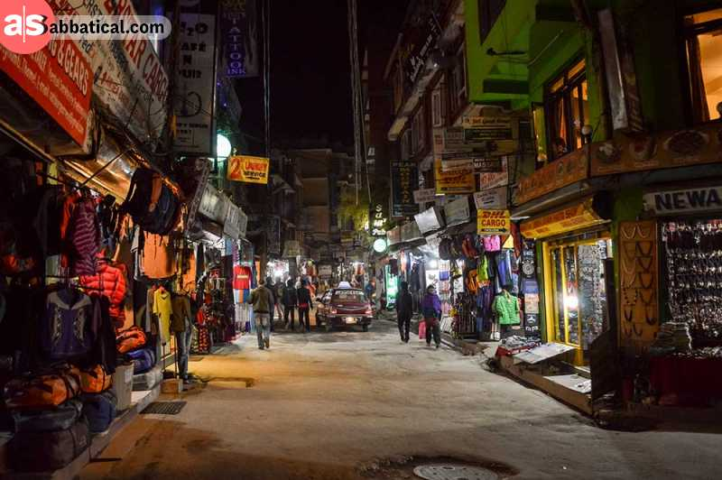 When deciding on the things to do in Kathmandu, definitely consider Thamel, a well known commercial district with strong nightlife.