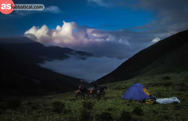 Camping is a true way to experience the natural wonders of Tibet.