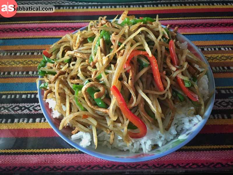 Where is Tibet, you can enjoy in delicious and diverse cuisine.