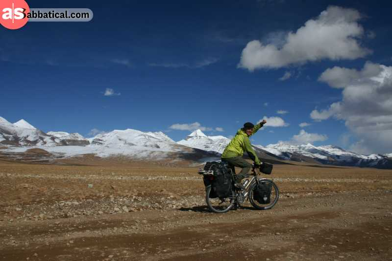 Cycling is an unique way to explore Tibet.