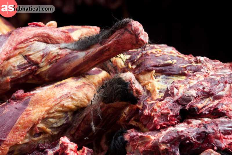 Tibetan Yak meat is the most popular meat in Tibet and can be seasoned in many different ways.