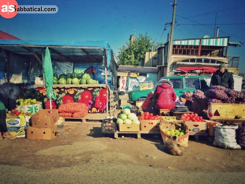 Even the markets in Tiraspol look like a little ghost town.