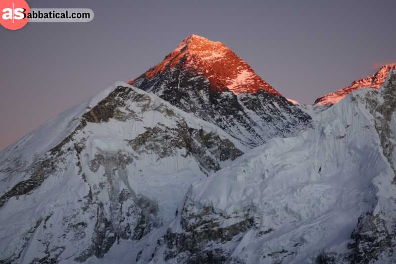 Mount Everest is the literal top of the world.