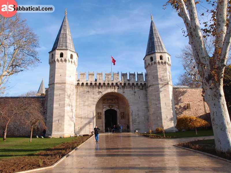 The entrance to Topkapi Palace.