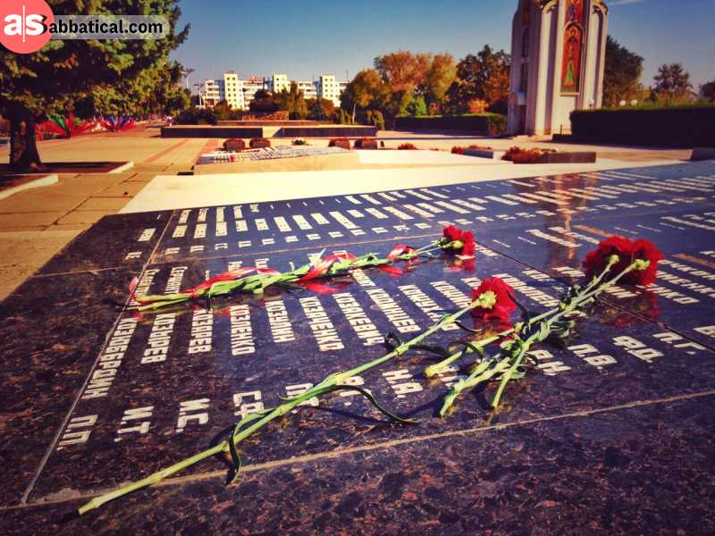 Roses symbolizing the fight for Transnistrian independence.