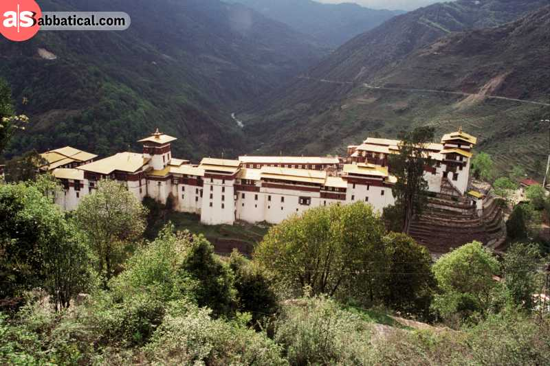 Trogsa Dzong was renovated many times to preserve its original architectural beauty.