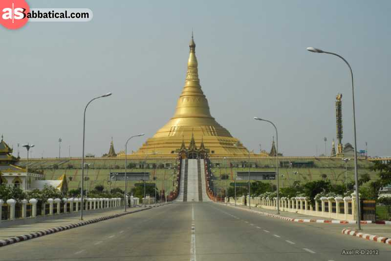 Uppatasanti Pagoda is a sight to behold.