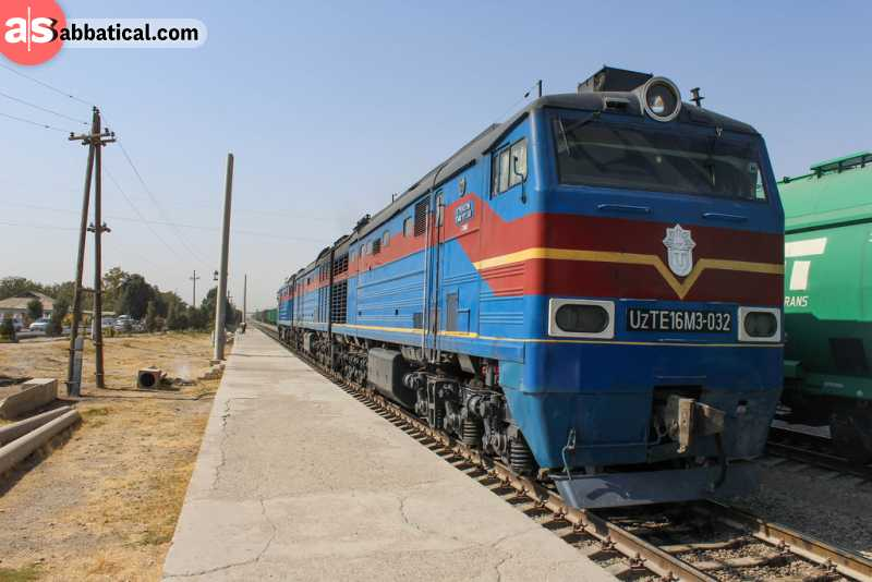 The best way of getting around Uzbekistan is by train, as many roads are damaged or missing.