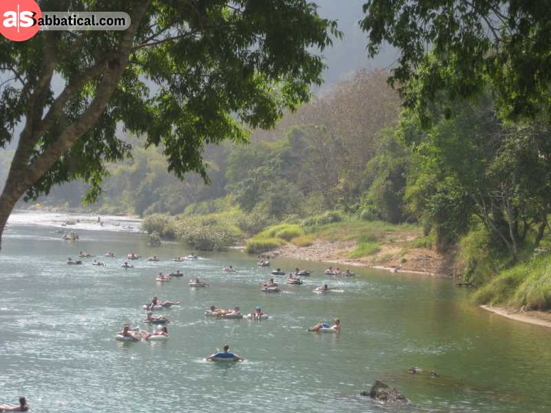 Vang Vieng is known in the backpacker community for its party scene and tubing down the Nam Song.