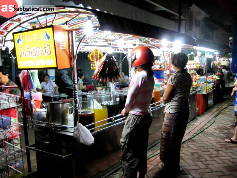 The Night Market in Vientiane is a vibrant place where a lot of things are going on.