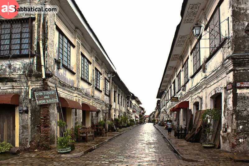 The historical architecture of Vigan is recognized by UNESCO.