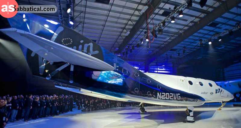 The flagship spaceship of Virgin Galactic.