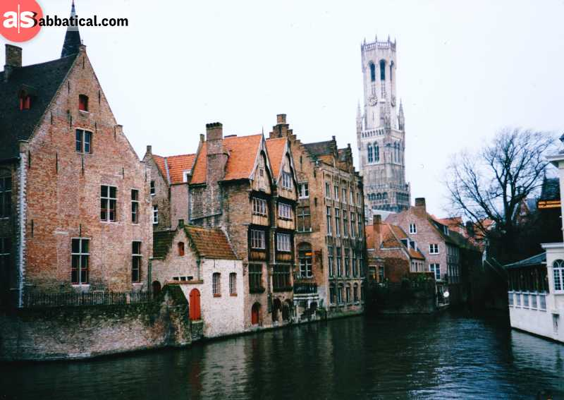 Visit Bruges, a beautiful picturesque city, to get an authentic look at the Flanders region.