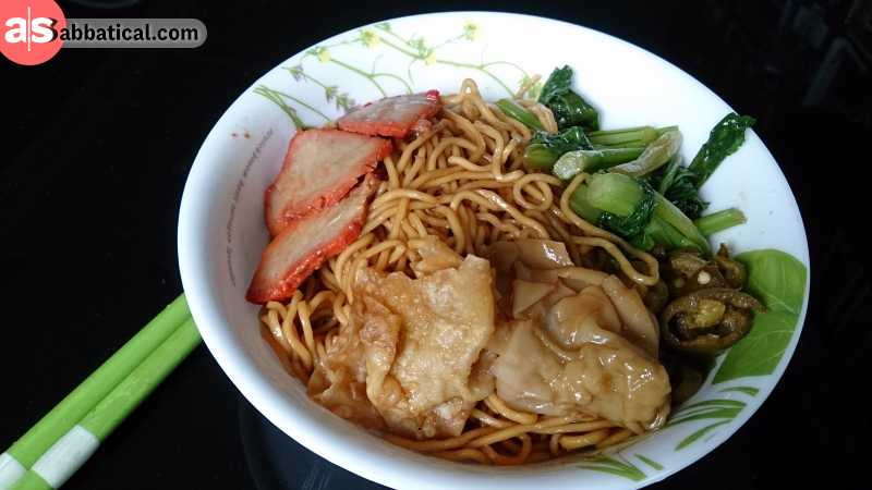 The Singaporean Wanton Mee is influenced by the Hong Kong variant.