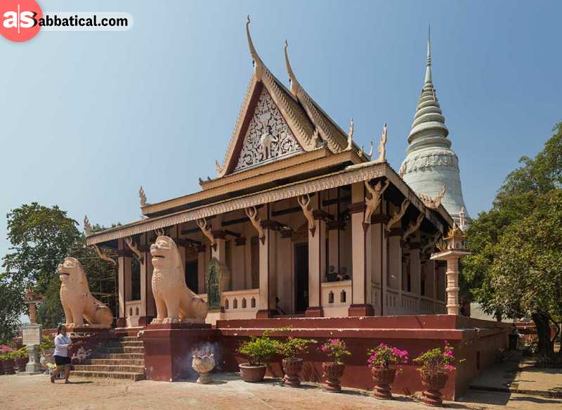Wat Phnom is known as the iconic symbol of Phnom Penh.