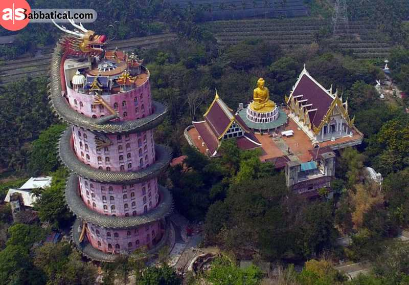 Wat Sampran Dragon Temple is an amazing structure that is completely off the beaten path in Thailand.