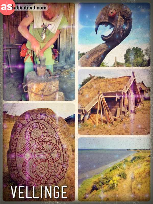 Fotevikens Viking Town - learning about ordinary life and crafts of the wild nordic tribes