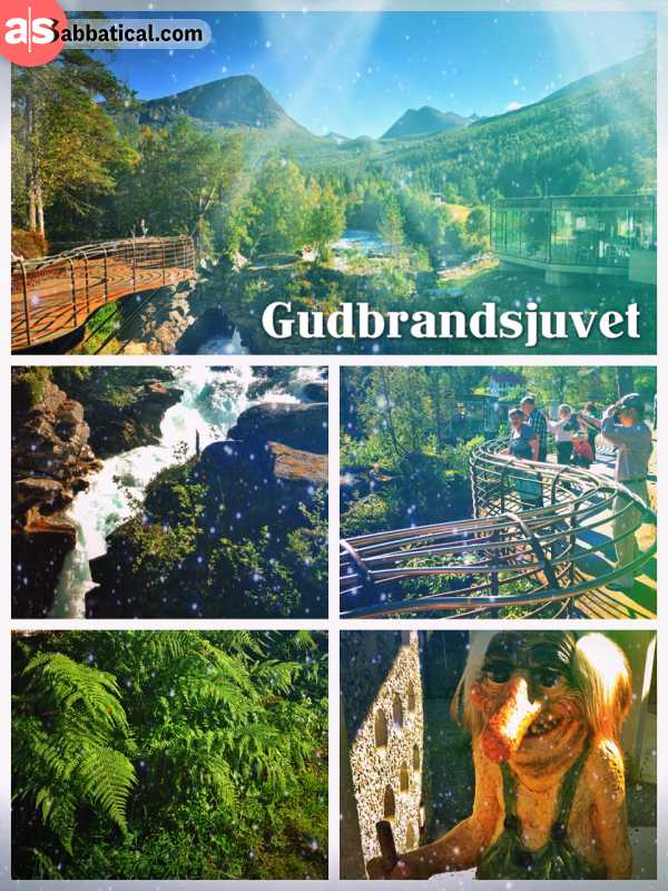Gudbrandsjuvet - the small waterfall with a mysterious legend on the road to Trollstigen