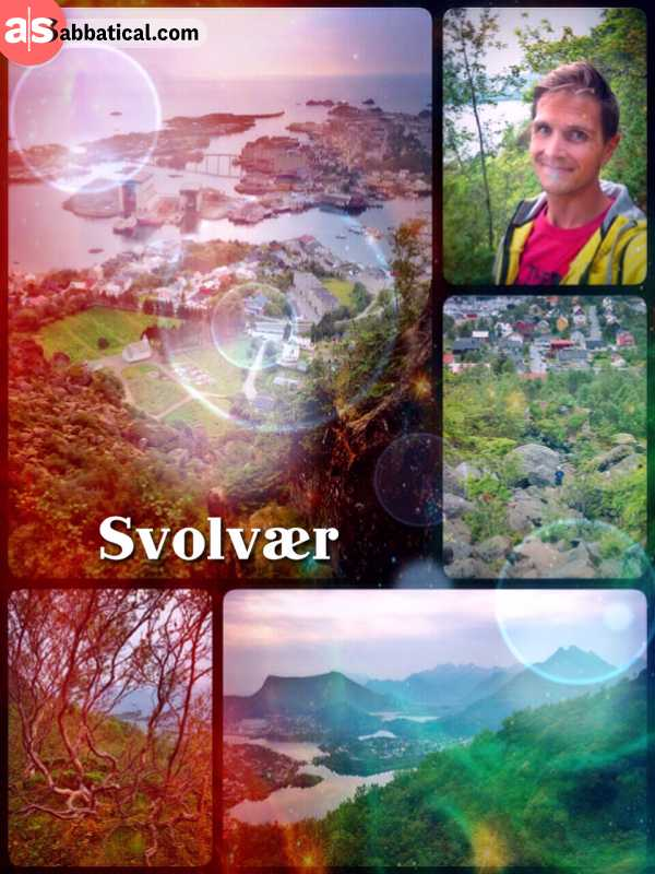 Svolvaer - climbing the steep mountain overlooking the city and some of the Lofoten