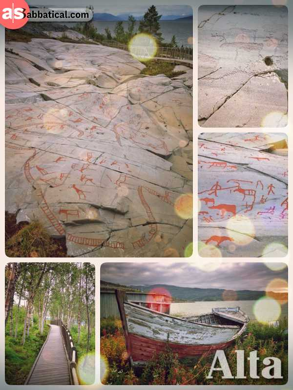Alta Rock Carvings - discovering a large area with many beautiful rock art near the North Cape
