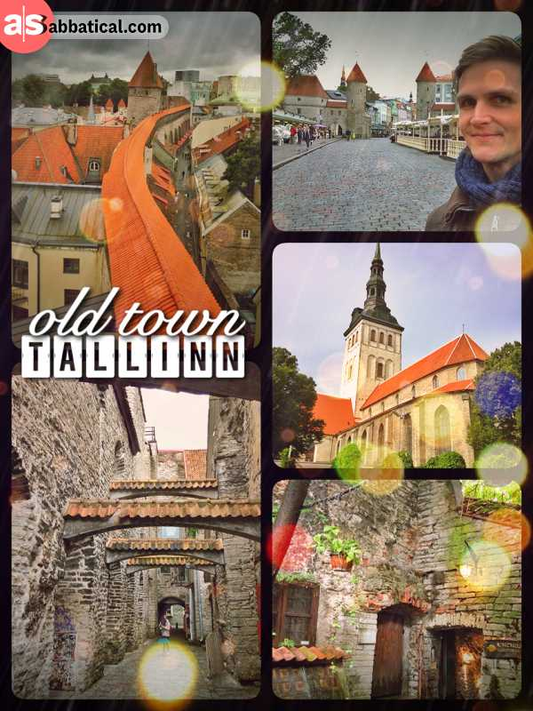 Tallinn Old Town - beautifully preserved medieval city center built on European trade