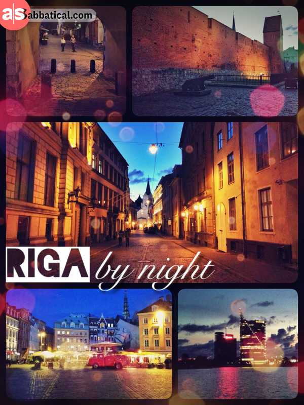 Riga by night - the empty roads can be a bit eerie but worthwhile a stroll