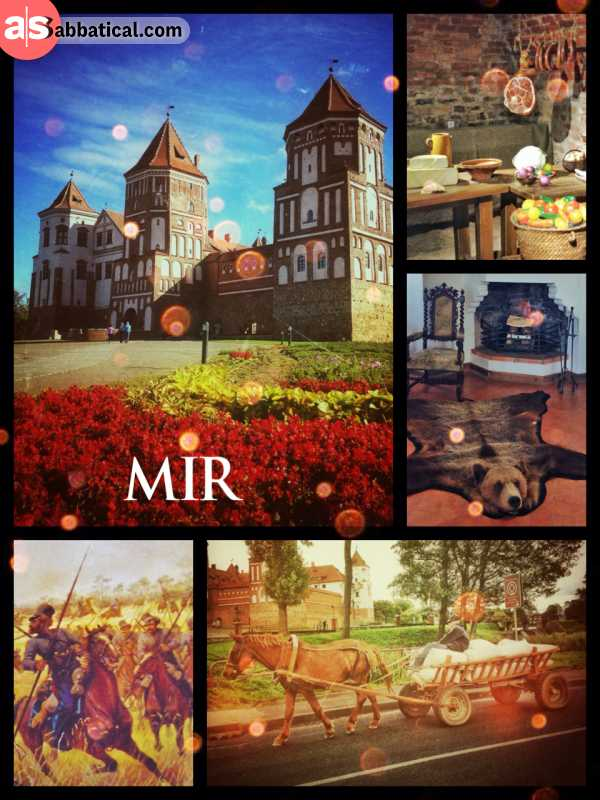 Mir Castle Complex - from Russian Cossacks to old people on chariots