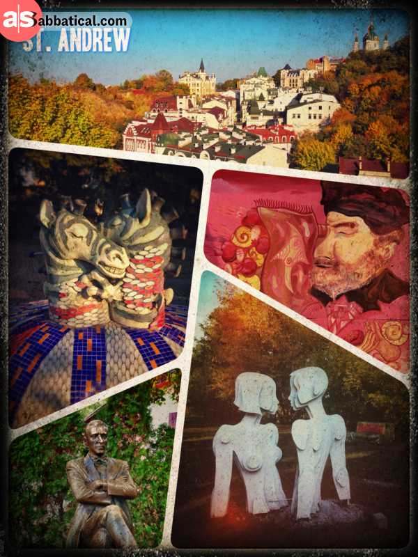 St. Andrew's descent - strolling through the Montmartre of Kiev and a park with bizzare statues
