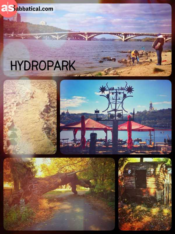 Hidropark - enjoying the final autumn sun on a green river island