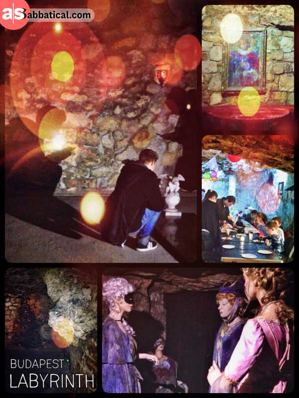 The Labyrinth of Buda Castle - walking in the dark, deep inside