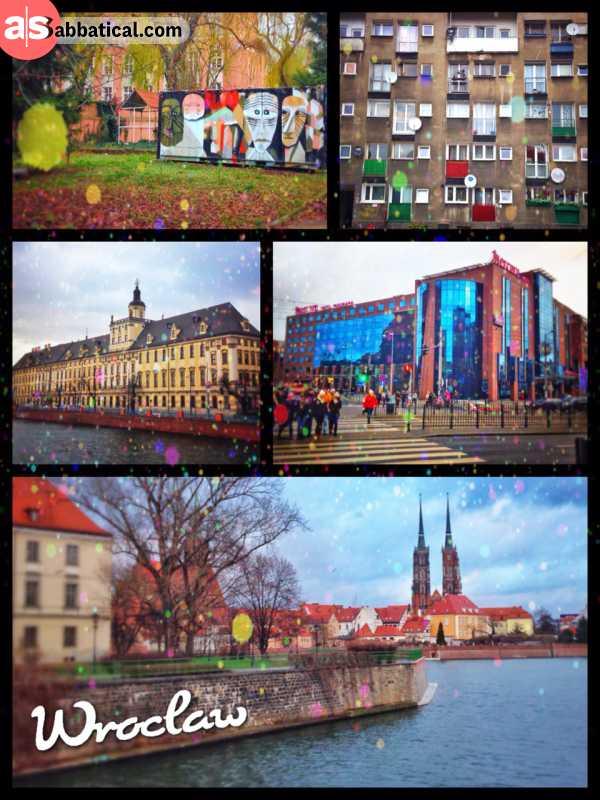 Wrocław - bridges, gothic buildings and street art
